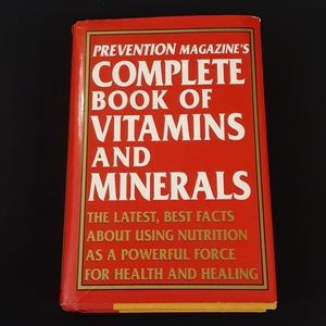 Hardcover book of vitimans and minerals